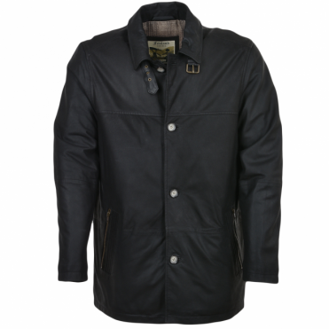 Leather Coat Black/napp : Rumi