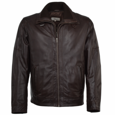 Leather Coat Brown : Glasgow