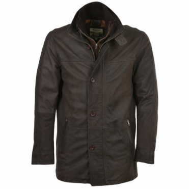 Leather Coat Brown/snu : Francisco