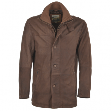 Leather Coat Cognac/snu : Francisco