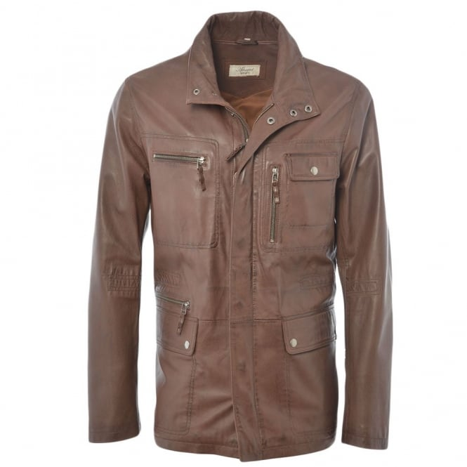 Ashwood Leather Coat Mid Brown : Hades