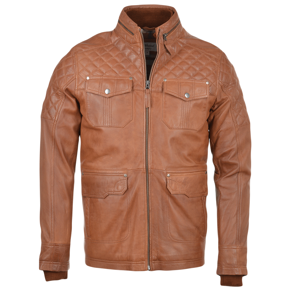 Mens Leather Coat Tan Enfield Mens Leather Jackets
