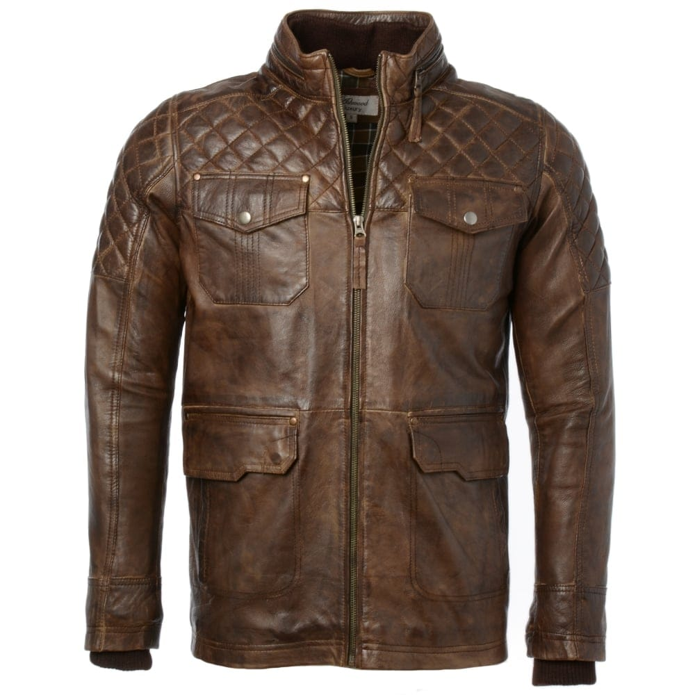 Mens Leather Coat Timber Enfield Mens Leather Jackets