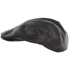 Leather Flat Cap Brown : Gatsby