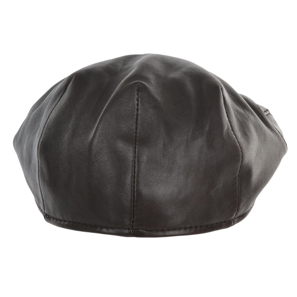 Mens Leather Flat Cap Brown   Gatsby 60b4f66b3f3