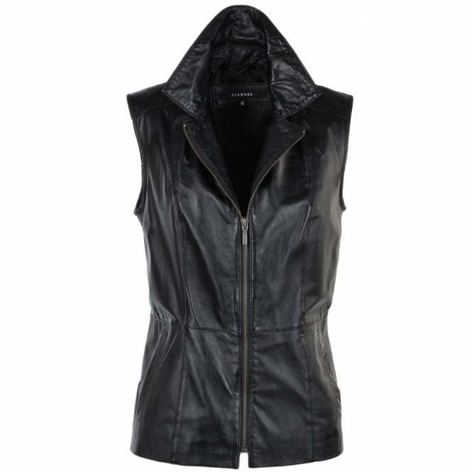 Ashwood Leather Gilet Black/app : Nola