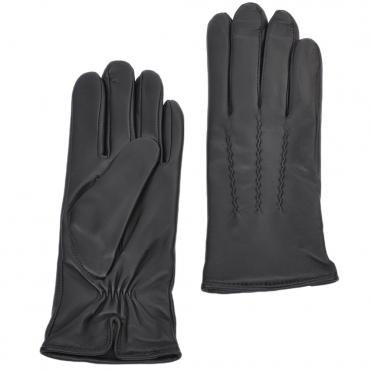 Leather Gloves Black : 401