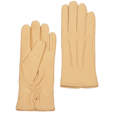 Leather Gloves Cream : 401