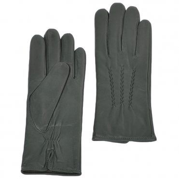Leather Gloves Green : 401