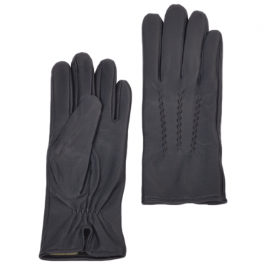Leather Gloves Navy : 401