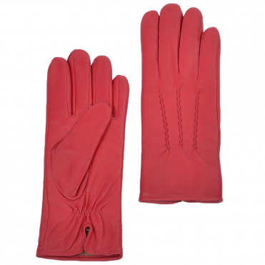Leather Gloves Pink : 401