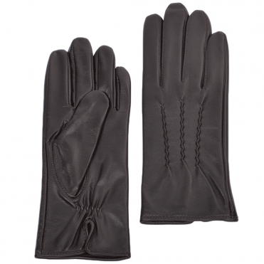Leather Gloves Plum : 401