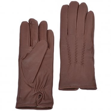 Leather Gloves Tan : 401