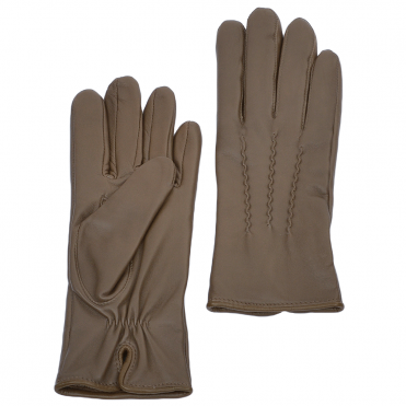 Leather Gloves Taupe : 401