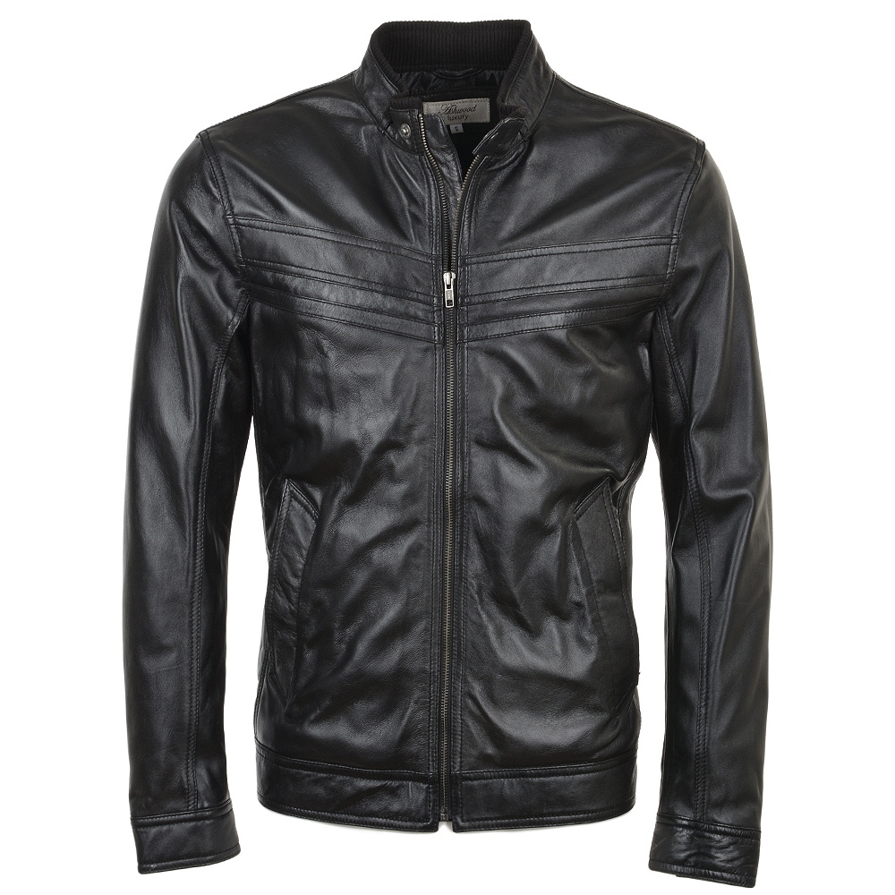 Mens Leather Jacket Black Andre Mens Leather Jackets