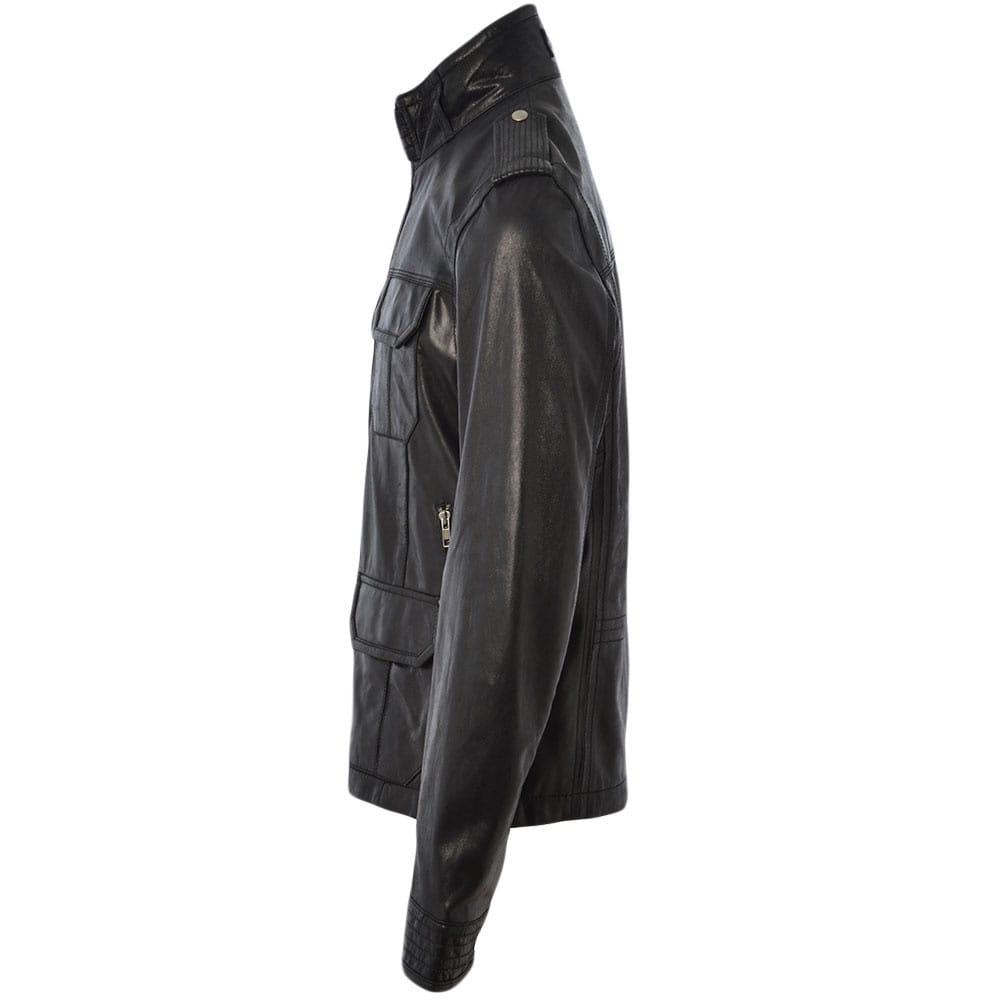 Leather safari jacket