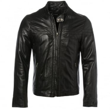 Leather Jacket Black/ani : Sydney