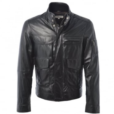 Leather Jacket Black/App : Alexander
