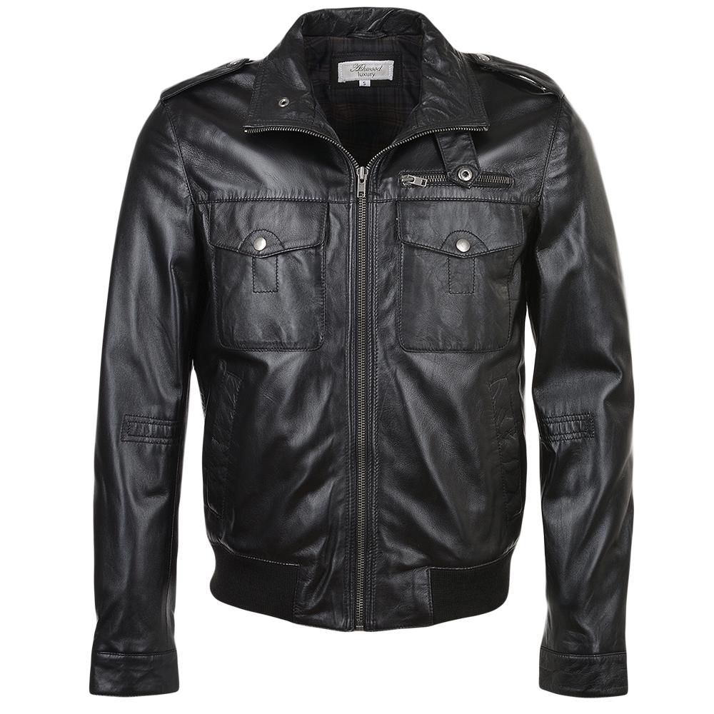 Mens Leather Jacket Black App London Mens Leather Jackets