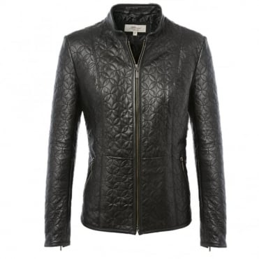 Leather Jacket Black/ddy : Agnus