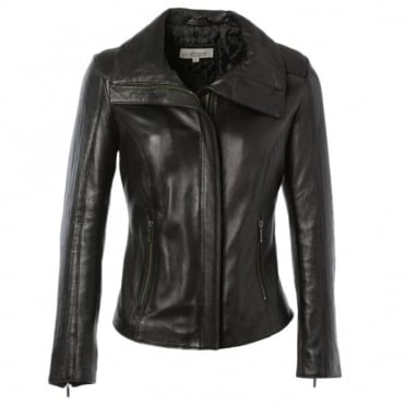 Leather Jacket Black/ddy : Elizabeth
