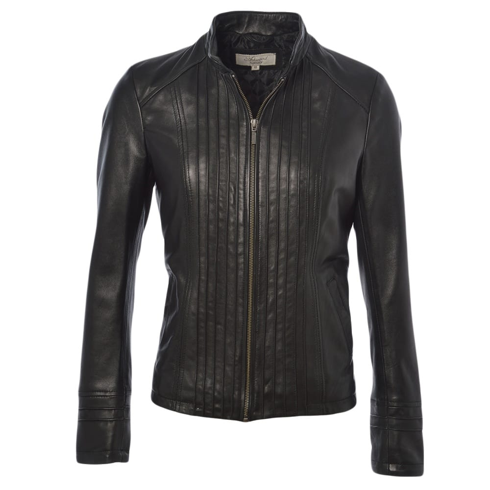 Womens Leather Jacket Black Ddy Infinity Womens