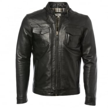 Leather Jacket Black : Edinburgh