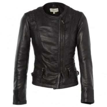 Leather Jacket Black : Helena