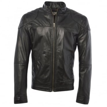Leather Jacket Black : Kastor