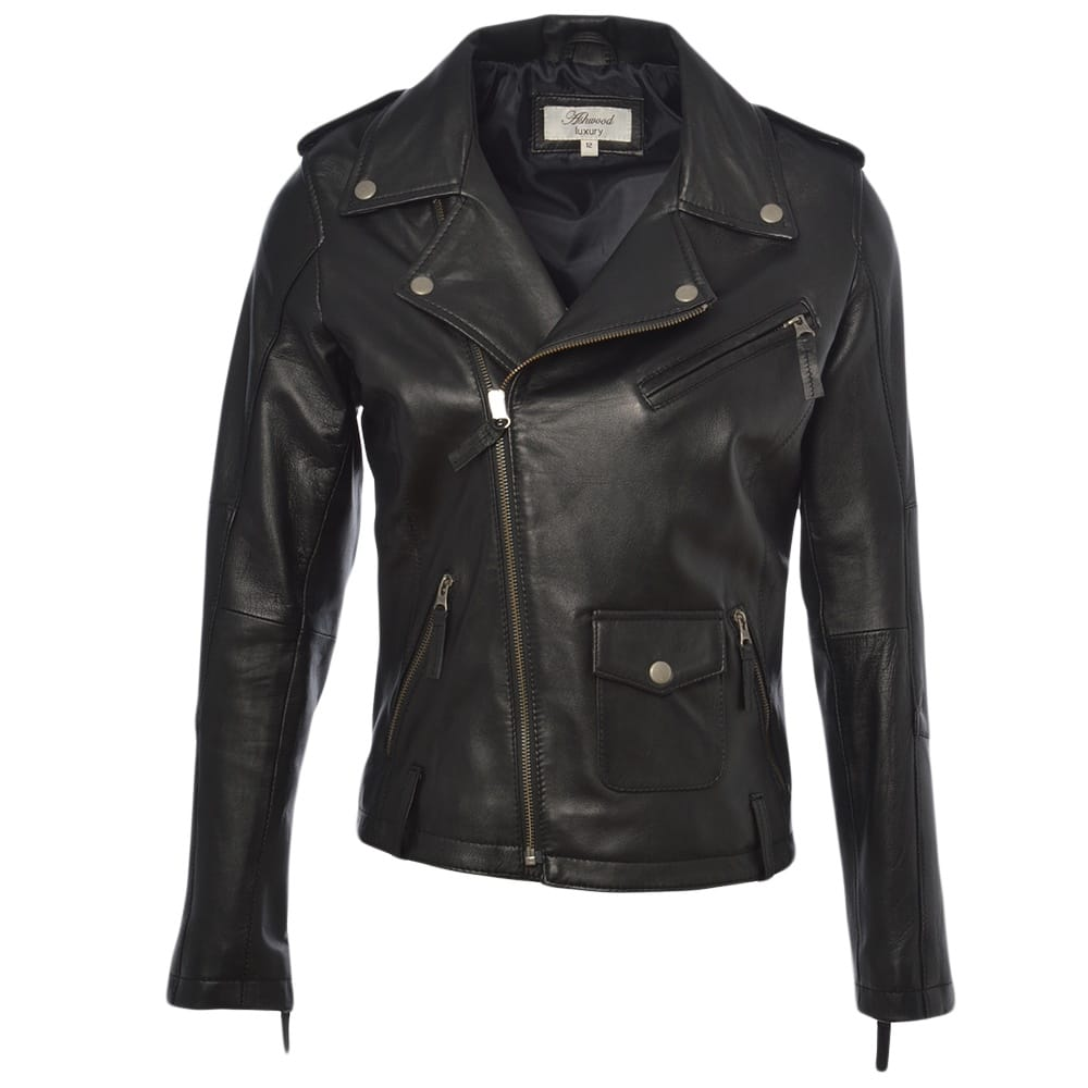 Womens Leather Jacket Black Madonna Womens Leather Jackets
