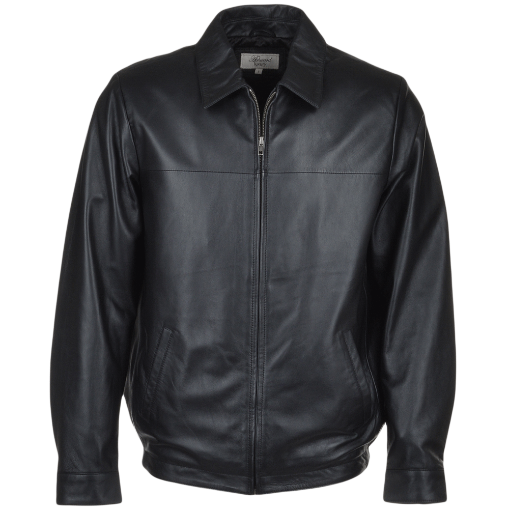 Mens Leather Jacket Black Mariner Men S Leather Jackets