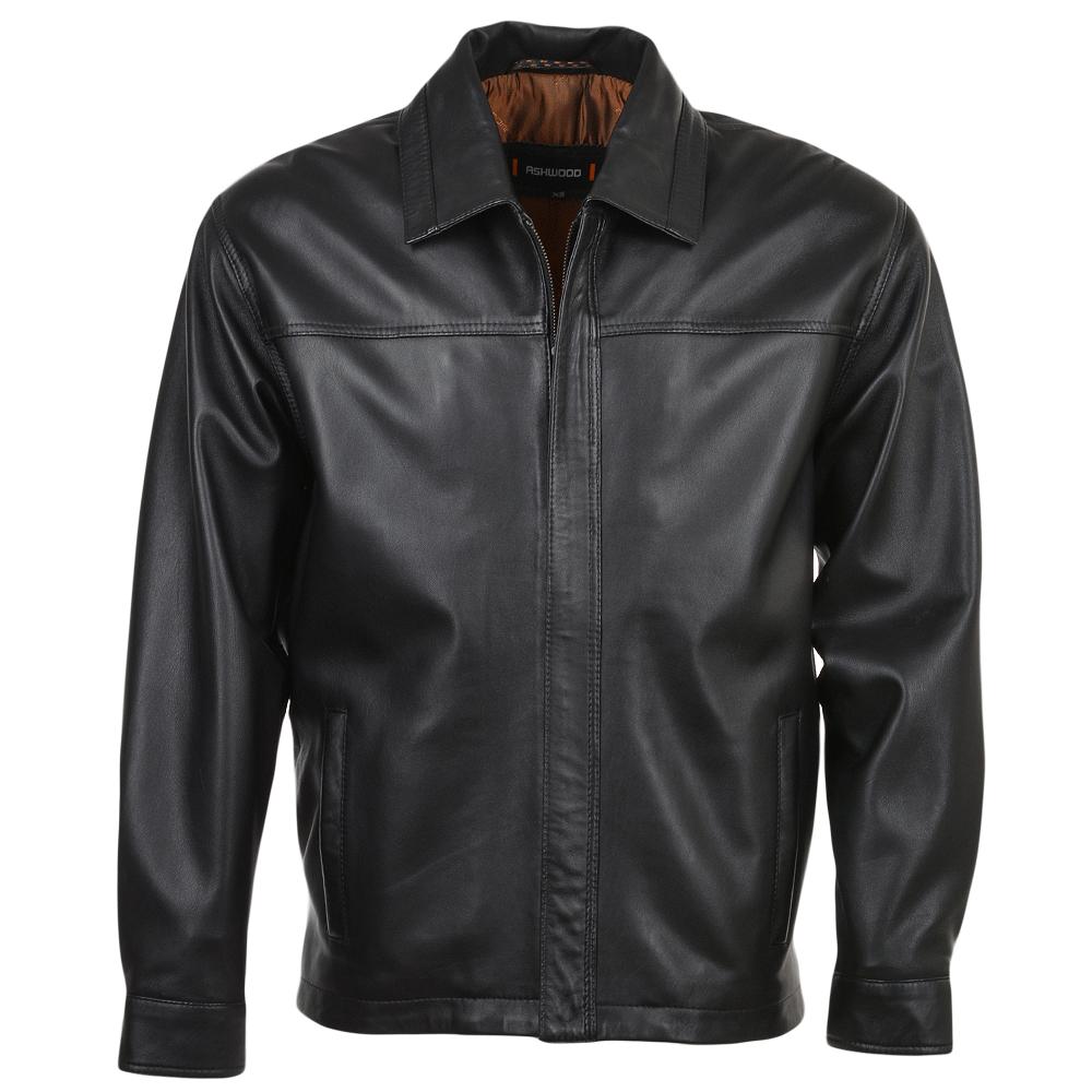Mens Leather Jacket Black Nap Charlemagne Mens Leather