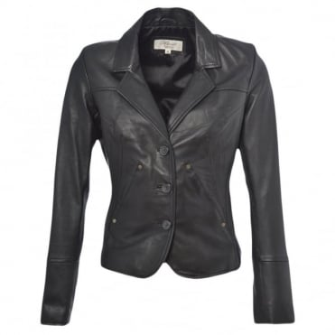 Leather Jacket Black/nap : Katherine