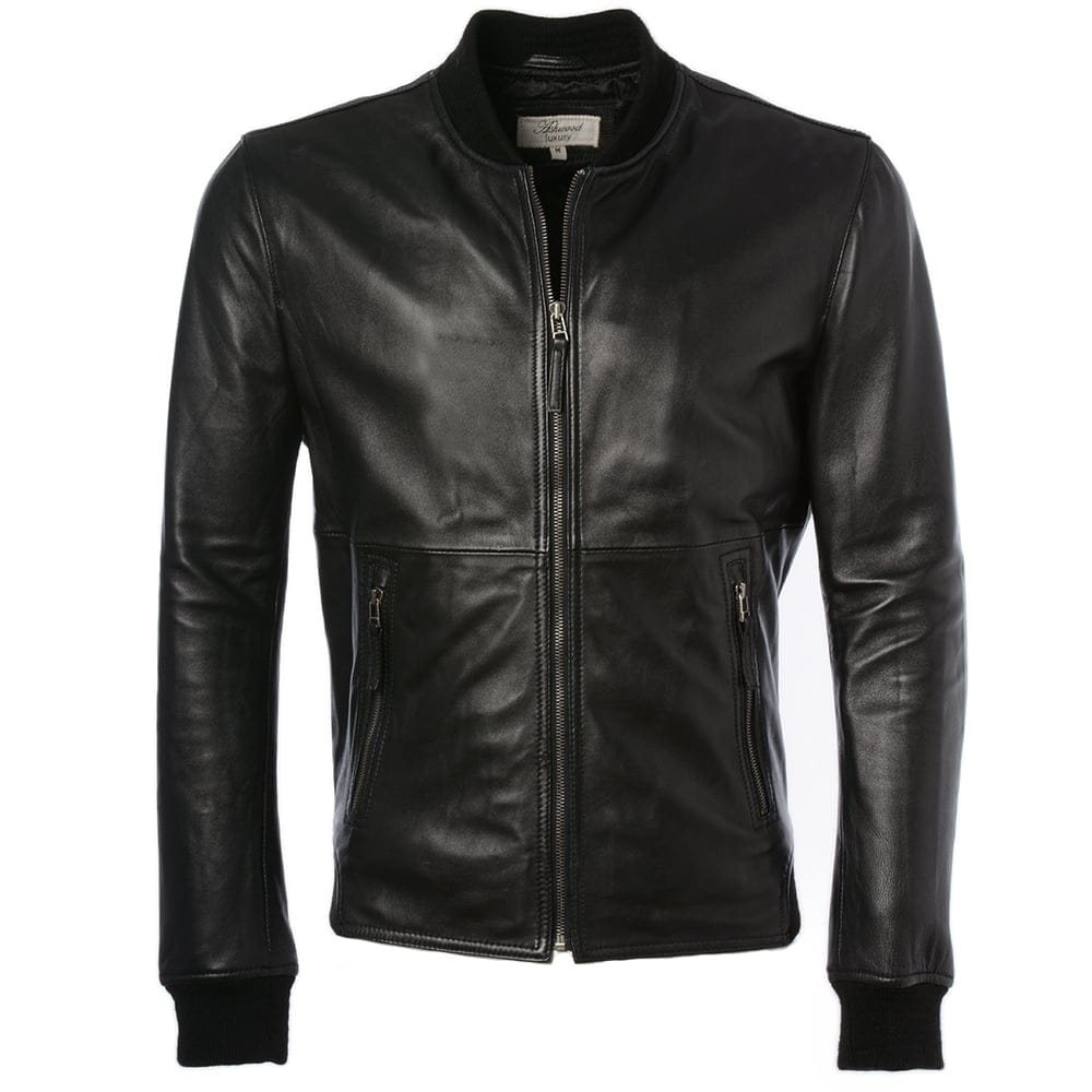 Mens Leather Jacket Black Oxford Mens Leather Jackets