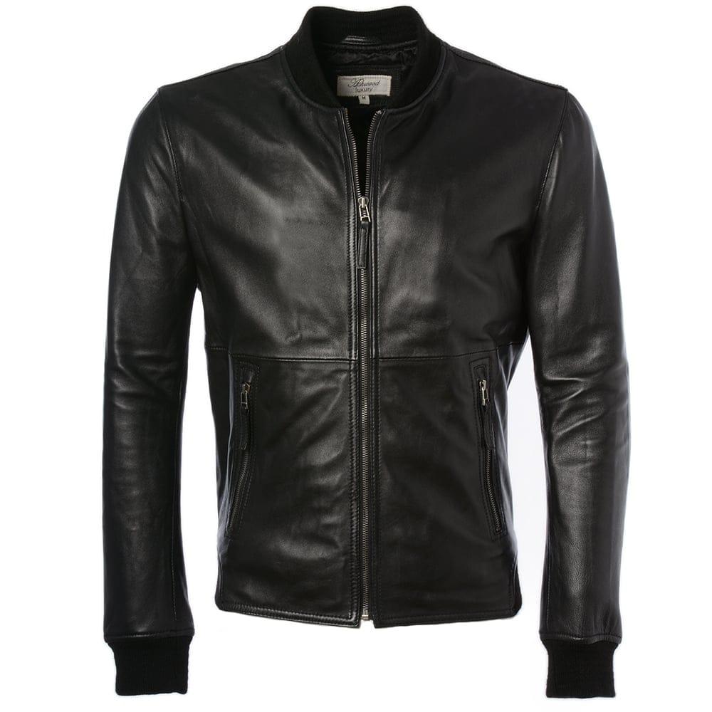 Mens Leather Jacket Black   Oxford  859c9b2e7988