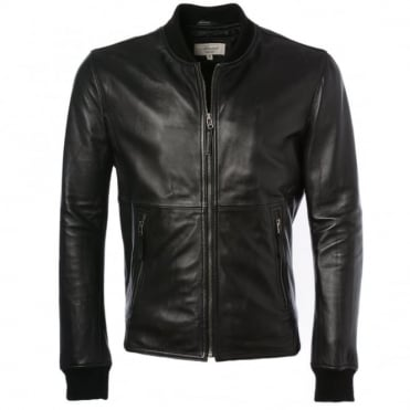 Leather Jacket Black : Oxford