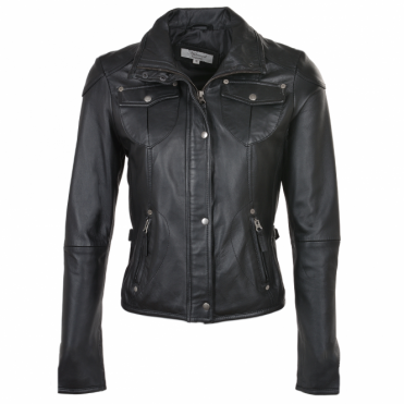 Leather Jacket Black : Poppy