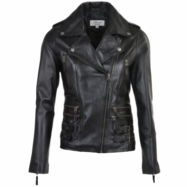 Leather Jacket Black : Ruby