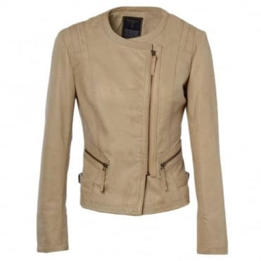 Leather Jacket Bone : Helena