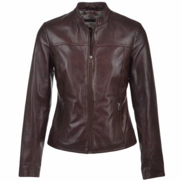 Leather Jacket Bordeaux : Kasia