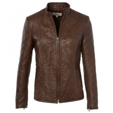 Leather Jacket Brown : Agnus