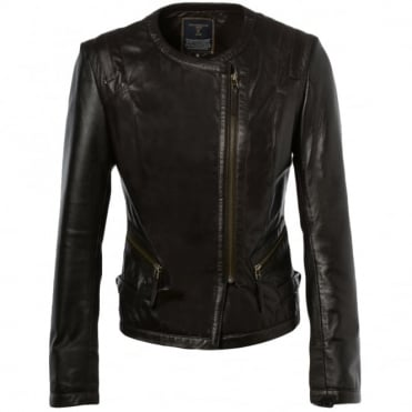 Leather Jacket Brown : Helena