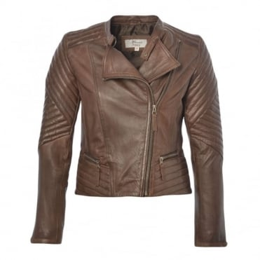 Leather Jacket Brown : Karme