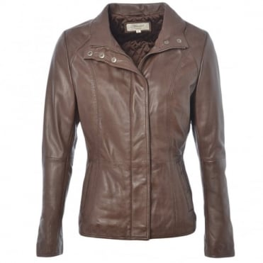 Leather Jacket Brown/nap : Juliet