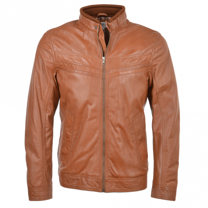 Ashwood Leather Jacket Cognac : Andre