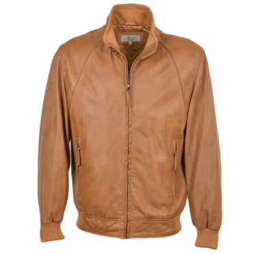 Leather Jacket Cognac/app : Baker