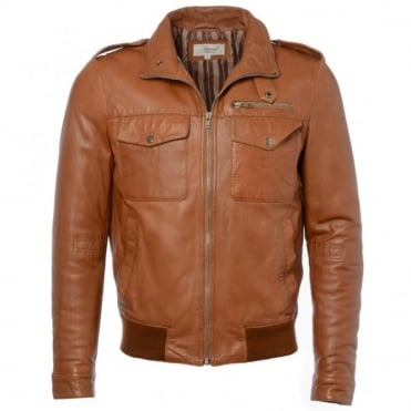 Leather Jacket Cognac/app : London