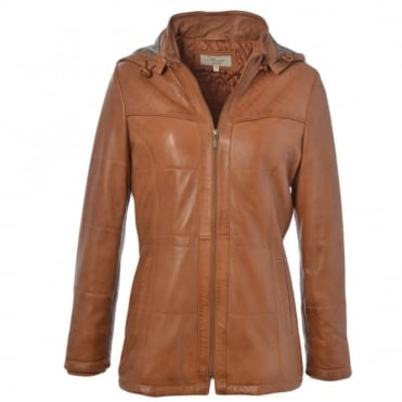 Leather Jacket Cognac/ddy : Molly
