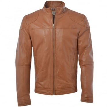 Leather Jacket Cognac : Kastor