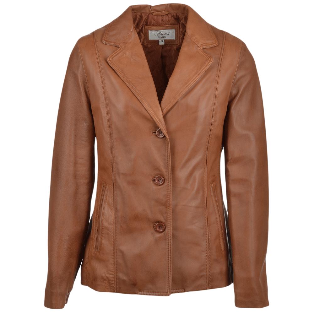 Leather jacket png - Ashwood Leather Jacket Cognac Nap Marabelle